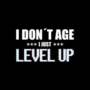 I don´t age i level up lustige Gamer Bday Maske