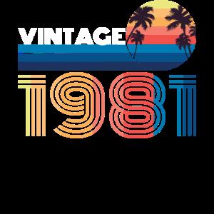 1981 Jahre Geschenk