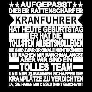 Kranführer Geschenk Arbeiter Kran Kranfahrer