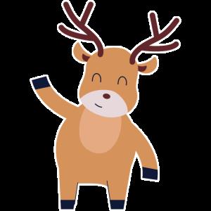 Rentier Elch Weihnachten lustiger Elch Jungen