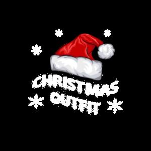 Christmas Outfit Weihnachtskostüm Mütze mit Bommel