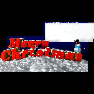 Frohe Weihnachten für Aufkleber