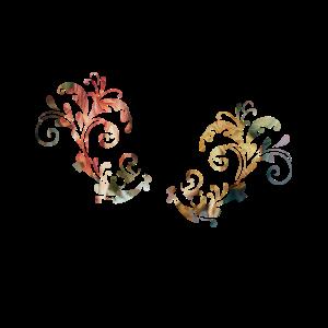 wunderschöne Blumen florales Art Deco Muster