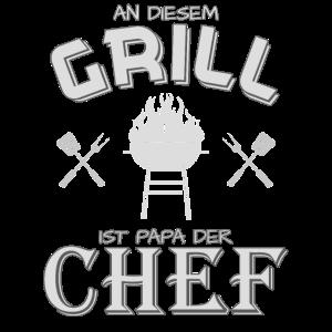 Papa der Grill Chef lustiges Griller Design Spruch