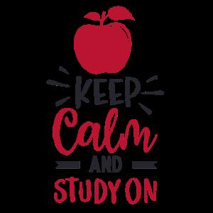 Bleib ruhig und lerne weiter