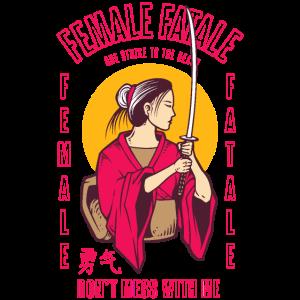 Female Fatale Frauenpower Geschenk Für Frauen