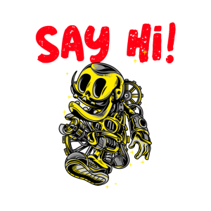 Say hi / Roboter / Geschenk