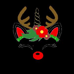Weihnachtes Kostüm Damen Einhorn Rentier