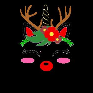 Einhorn Rentier Damen Kostüm Weihnachten Geschenk