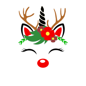 Süßes Einhorn Rentier Weihnachts Damen Geschenk