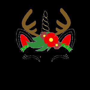Einhorn Rentier Weihnachts