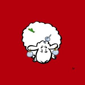 Mascarilla One Christmas Tree Sheep (en rojo)