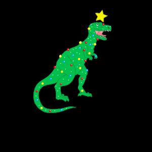 dino trex weihnachten weihnachtsbaum