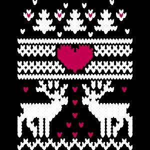 Winter Strickmuster v Sweatshirts