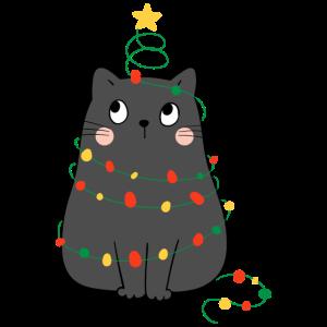 Katzen Weihnachtsbaum Lustig Geschenk