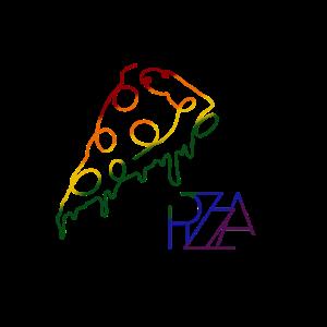 Pizza, Lineart, Fastfood, Essen, Käse, Geschenk