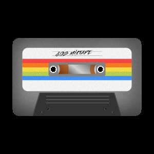 Cooles 80er Mixtape Design!