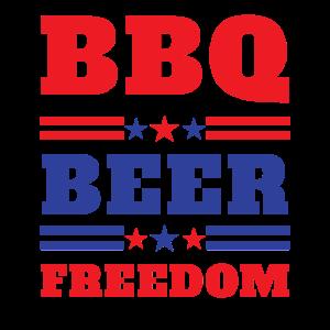 BBQ Beer Freedom 2020 Proud Men design