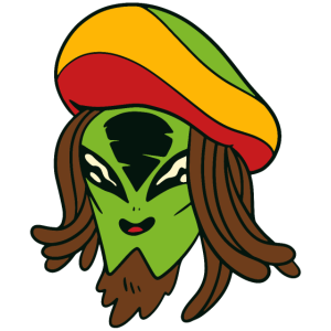 Alien Außerirdischer Jamaikaner Jamaika Alien Herr