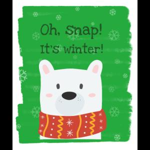 Hund Wintermotiv