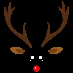 Rentier Gesicht Weihnachten Geweih