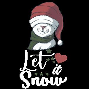 Frohe Weihnachten lass es schneien
