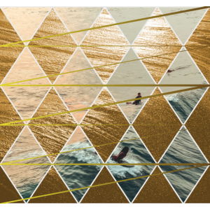 edles Muster Surfer - Sonnenuntergang - Meer