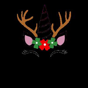 Weihnachts Einhorn Rentier Damen Geschenk