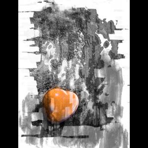 Abstraktes Bild mit Herz