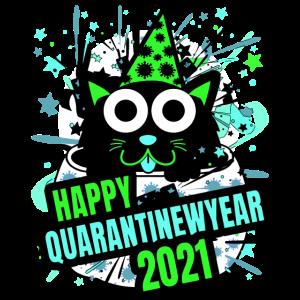 Quarantäne Neujahr 2021 T-Shirt