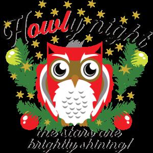 Heilige Nacht Eule Howly Weihnachten lustig Spruch