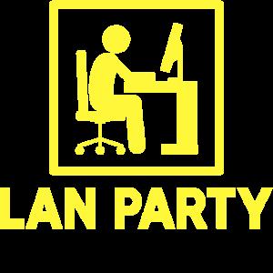 Lan Party Zocken Nerd Gaming Videospiele Games