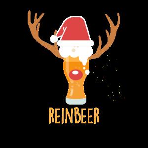 Reinbeer Bierglas Bier Rentier Kostüm Weihnachten