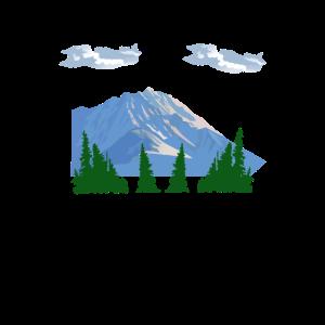 Bergbäume Wanderer
