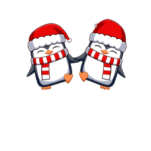 weihnachtliches süßes Pinguinpaar