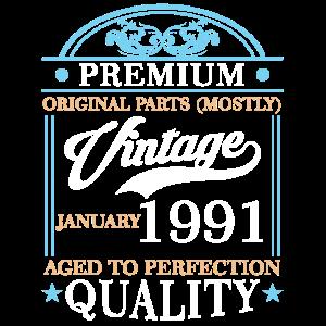 30. Geburtstag Premium Quality Januar 1991