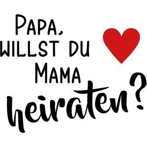 Papa Mama heiraten Baby Body Antrag Hochzeit Herz