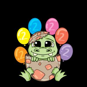 Ich bin 2 Dinosaurier Geburtstag Kindergeburtstag