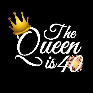 40. Geburtstag Frauen Geschenk, die Königin ist 40