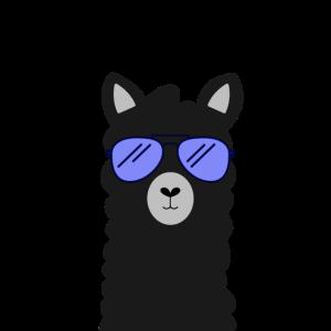Lama Alpaka Mit Sonnenbrille Mundschutz
