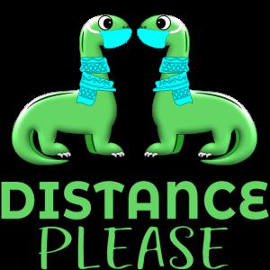 Brachiosaurus DINOSAURIER FACE COVERING DISTANCE