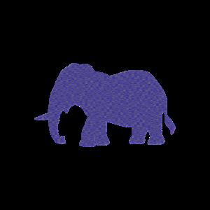 Elefant, Elefanten, blau, Elefantenkuh,