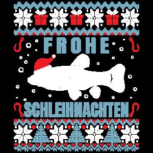Frohe Schleihnachten Angler Fischer Weihnachten