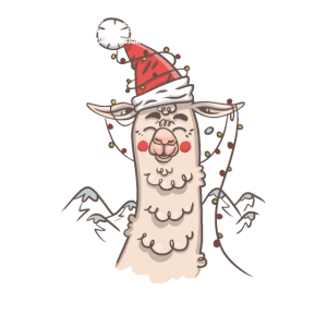 Alpaka Weihnachten Lama lustig Ugly Christmas