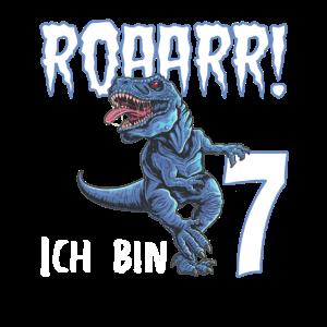 7. Geburtstag 7 Jahre Dino Saurier Dinosaurier