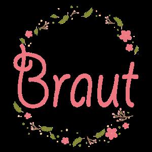 Braut T-Shirt - Blumenkranz 2 - JGA