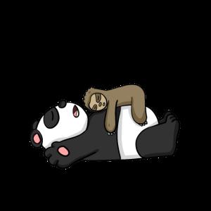 Nur noch 5 Minuten Faultier Panda schlafen Schlaf