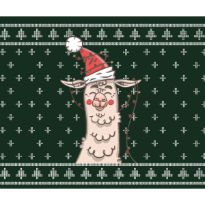 Christmas Alpaka Weihnachtsbaum Lama Weihnachten
