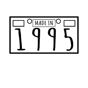 Birthday Gift - Made In 1995 - Plate Number Design