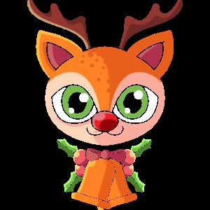 UGLY CHRISTMAS RENTIER Geschenk Rudolph für Kinder
